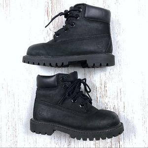 Timberland Black Boots Toddler 8